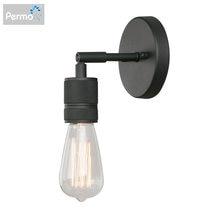 Минималистичный настенный светильник permo с одной розеткой