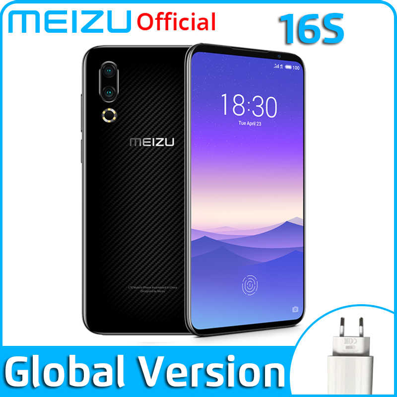 "Version mondiale Meizu 16 s 128GB 16 s téléphone intelligent Snapdragon 855 6.15 ""48MP double caméra AI avant 20MP 3600mAh NFC"