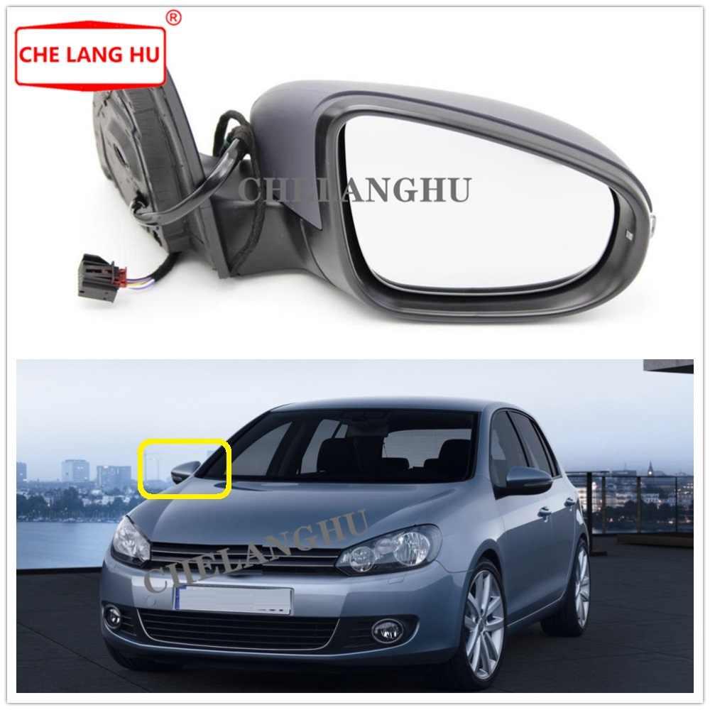 Phía Bên Phải Dành Cho VW Golf 6 A6 MK6 2009 2010 2011 2012 2013 Xe Phía Sau Điện Có Thể Điều Chỉnh Và Nung Nóng Tráng Gương với Biến Singal Ánh Sáng