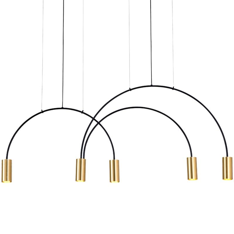 Современные люстры освещение Ресторан подвесной висячий светильник гостиная столовая латунь медь бар светильники