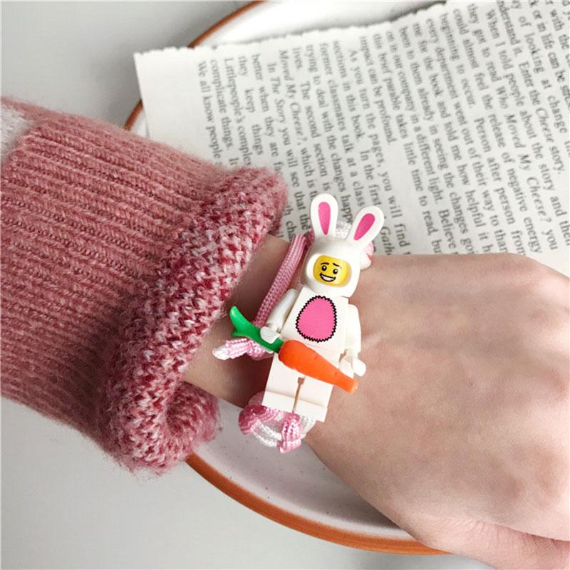 1pcs Creative DIY Hand Made Bracelet Toys For Kids Funny Cartoon Rabbit Pig Pretend Bracelet Toys For Child Creative DIY Toys