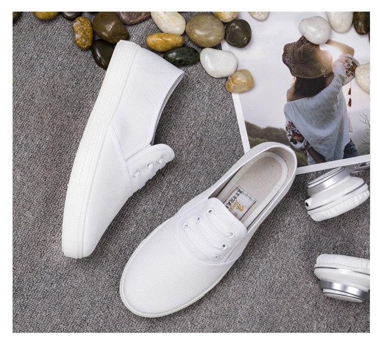 brancos senhoras rasas sapatos brancos dedo do
