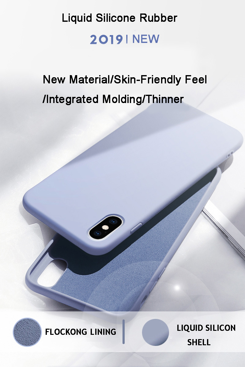 KJOEW Silicone Solid Candy Color Phone Shell for iPhone 11 Pro Max XR X 5