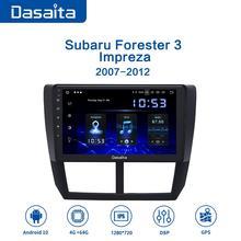 """Dasaita 9 """"IPS Автомобильный мультимедийный Android 10,0 для Subaru Forester WRX 2008 2009 2010 2011 2012 радио GPS навигация TDA7850 MAX10"""