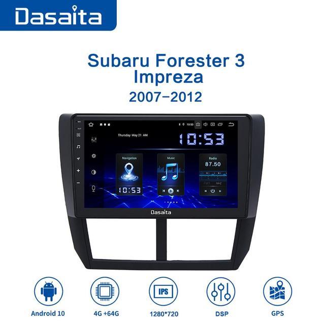 "Dasaita 9"" IPS Car Multimidia Android 10.0 for Subaru Forester WRX 2008 2009 2010 2011 2012 Radio GPS Navigation TDA7850 MAX10"