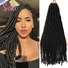 Tresses synthétiques, Faux Locs, Extensions de cheveux lisses, couleur noire Pure, Blonde, Crochet, Dreadlocks, coiffure Afro