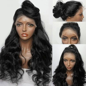 Image 5 - QT 180 Körper Welle Glueless HD Spitze Front Menschliches Haar Perücken 360 Spitze Frontal Perücke Pre Gezupft Mit Baby Haar brasilianische 13X6 Remy Perücke