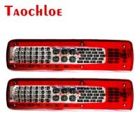 2Pcs 24V Left Right LED Tail Lights Turn Stop Brake Warning Signal Lights For Volvo FH 460 540 Heavy Truck Rear Lamp Taillight