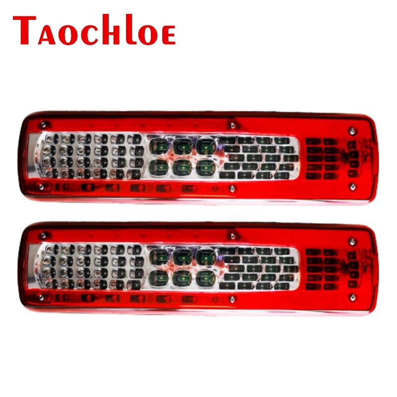 2pcs 24v luzes led luzes da cauda vire sinal de freio de parada para volvo fh
