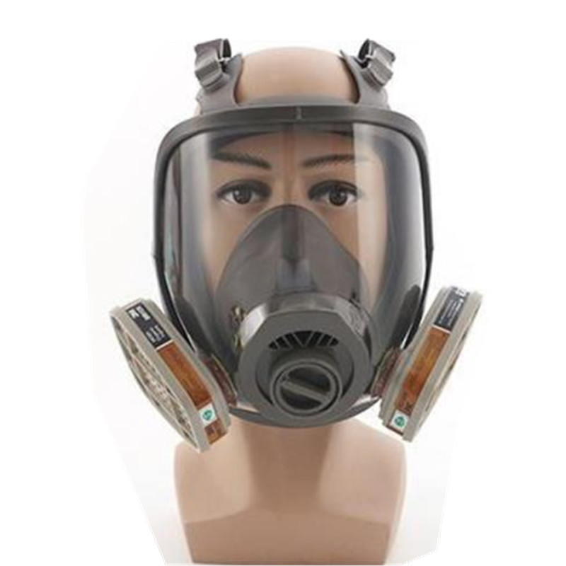 7 Suits Gas Mask Full Face Chemical Respirator Laboratory Medical Masks Spraying Safety Protection Anti virus Innrech Market.com