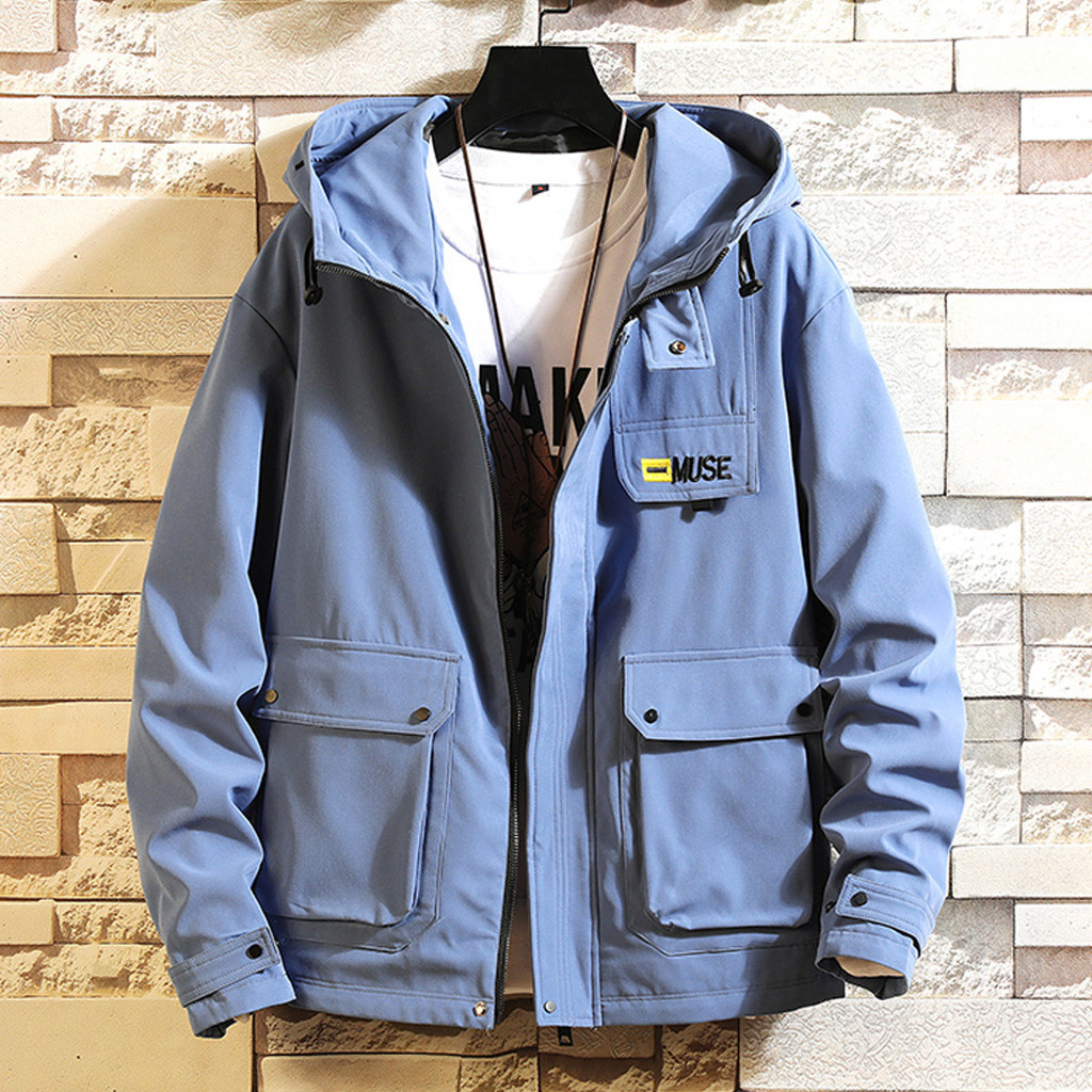 H4ee19e54902442608b2b27486d91470c9 - Casual Tops Plus Size  Fashion Men's Autumn Casual Fashion Patchwork Jacket Multiple Pockets Outwear Coat man Hands
