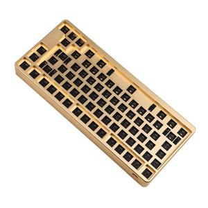 Image 5 - ID80 80 Keys QMK Anodized Aluminum Case Plate hot swappable Hot Swap Type C PCB VIA Mechanical Keyboard Kit