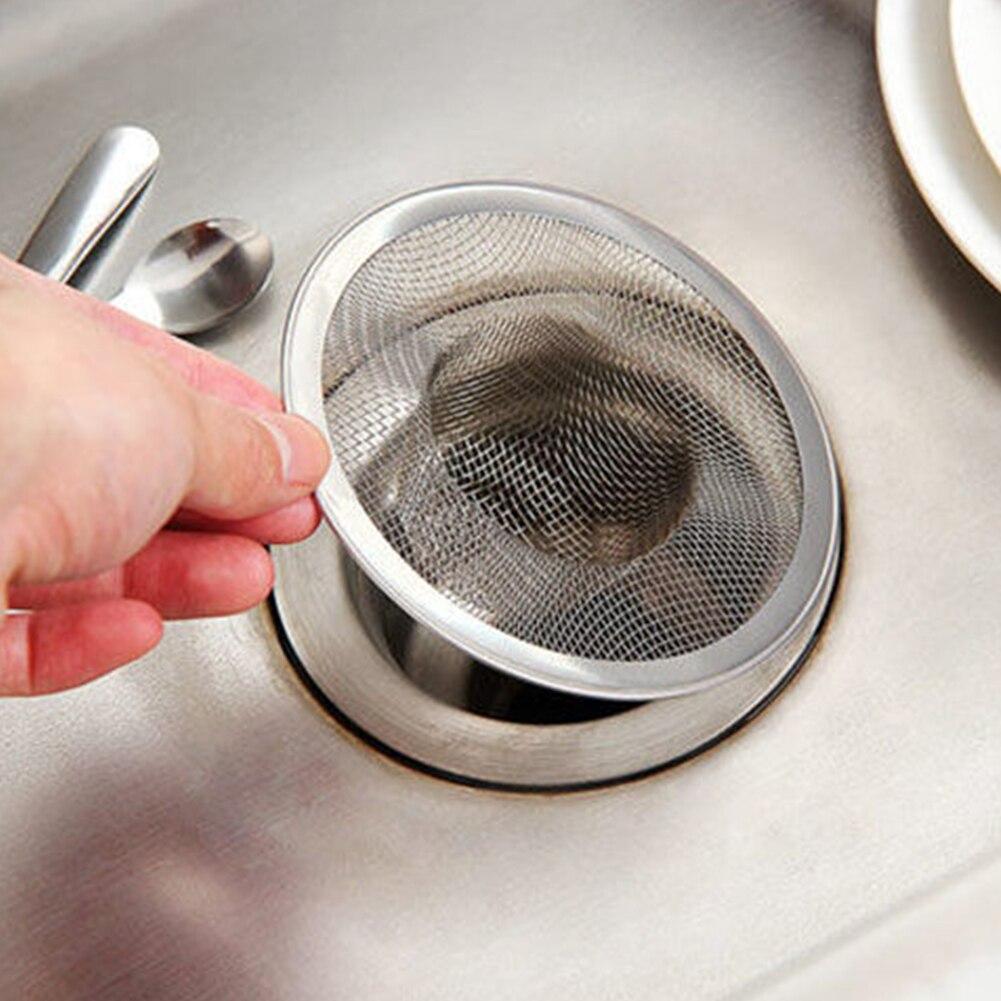 Net Drain Tool Easy Clean Effective Fine Mesh Bathroom Hair Catcher Kitchen Round Stainless Steel Anti Blocking Sink Strainer