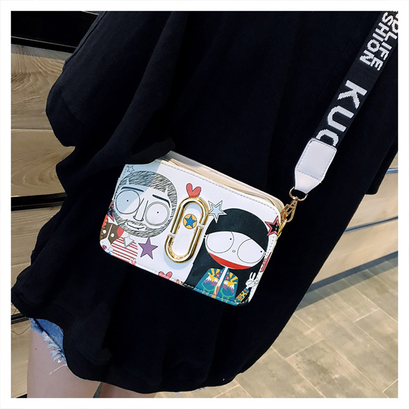 Cute Crossbody Bags for Women New Leather Cartoon Shoulder Bags Clutch Messengers Designer for Teenager Girls College Flap in Top Handle Bags from Luggage Bags