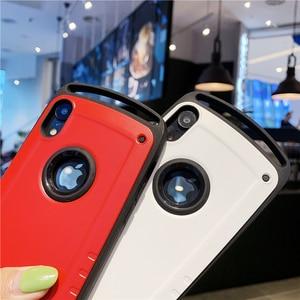 Image 5 - Chống Va Đập Cho iPhone 12 Mini 11 Pro Max X XR XS 7 8 Plus Chống Sốc Lưng Vỏ bao Da Cứng PC Silicone Hybrid Armor Coque