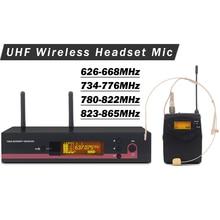 Профессиональная 122 G3 UHF Беспроводная микрофонная система с истинным разнообразием приемник+ гарнитура микрофон+ 3,5 мм Винт поясной передатчик