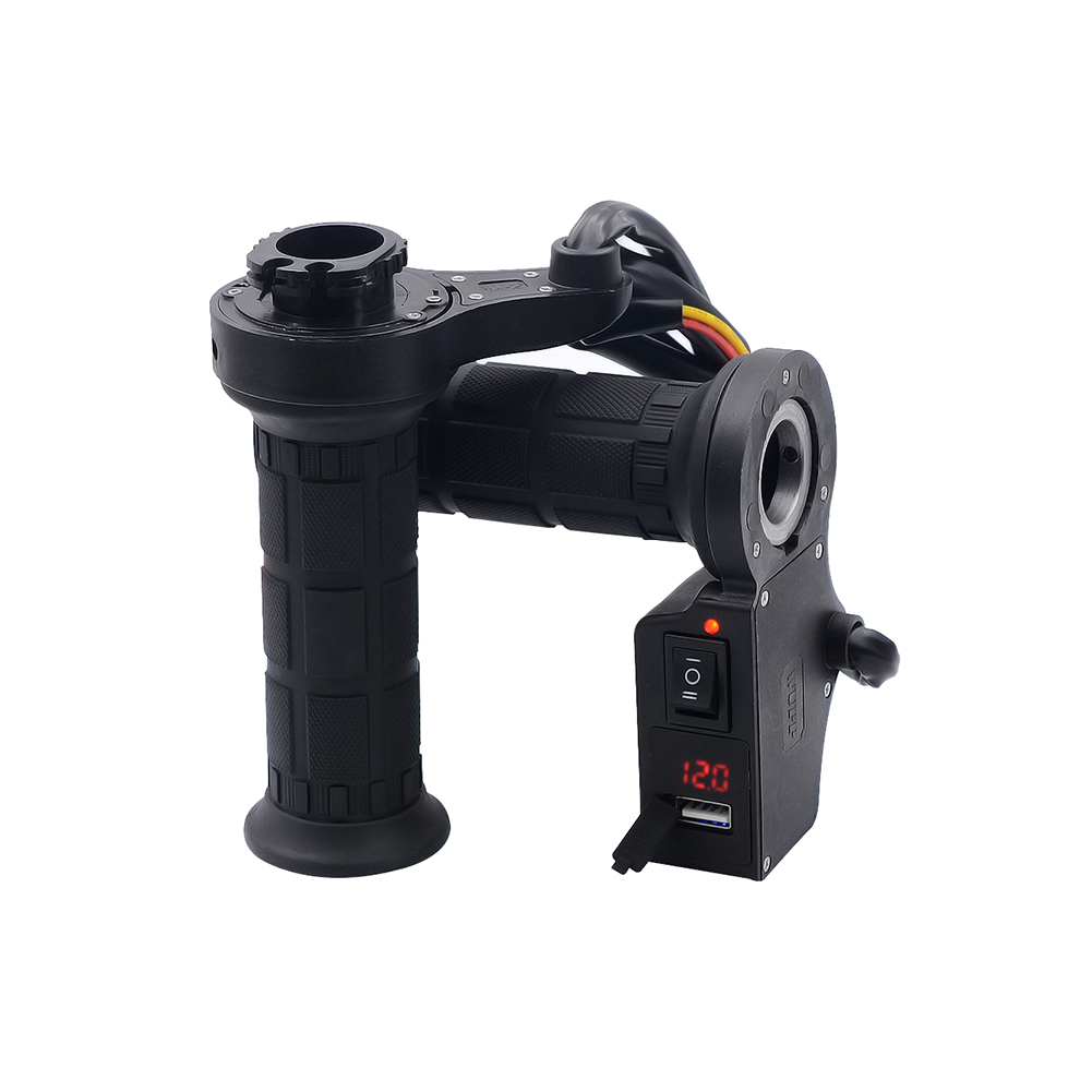 22mm Motorcycle Motorbike Heating Handle Heated Grips  + Usb Charger