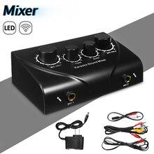 LEORY profesjonalny mikser dźwięku Karaoke Mini mikrofony Audio wzmacniacz miksujący metalowy mikser konsola cyfrowy mikser dźwięku czarny