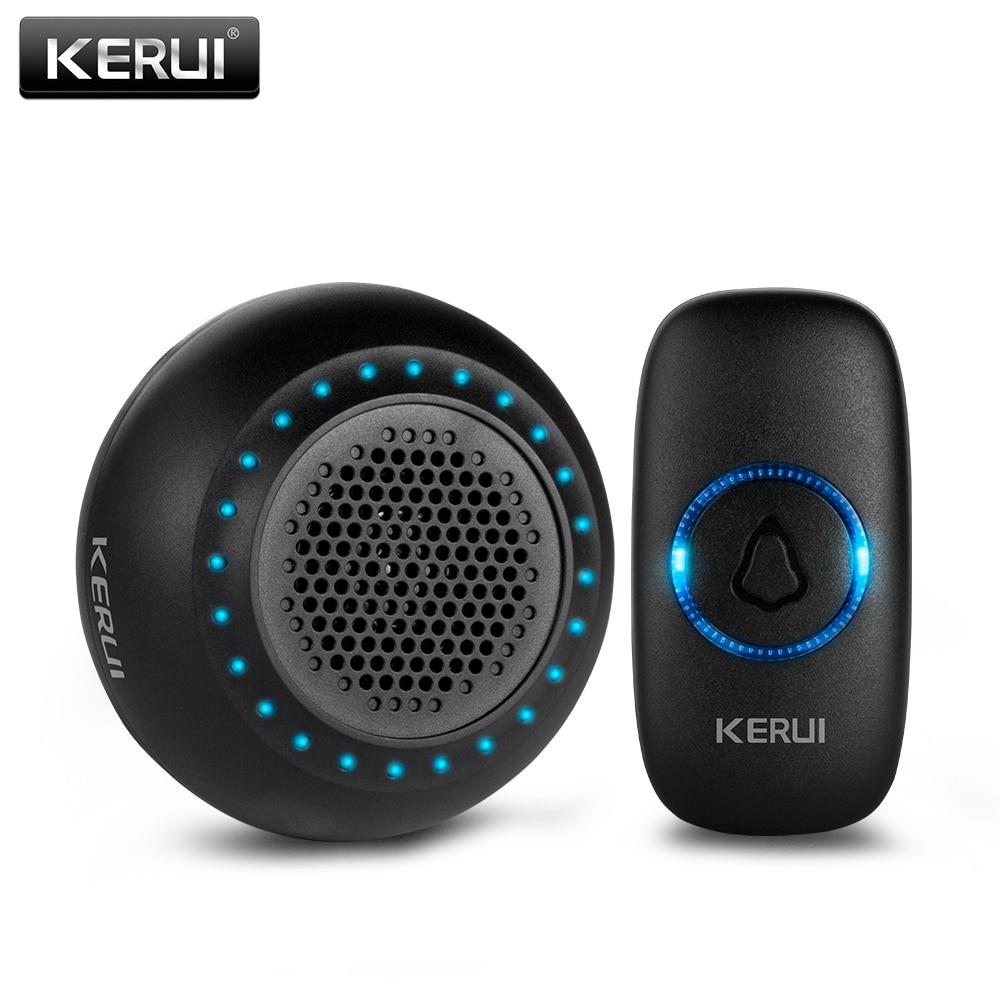 KERUI M523 Wireless Doorbell Home Waterproof Door Button Colorful LED Lights Household Wireless Door Bell 433MHz Press Button