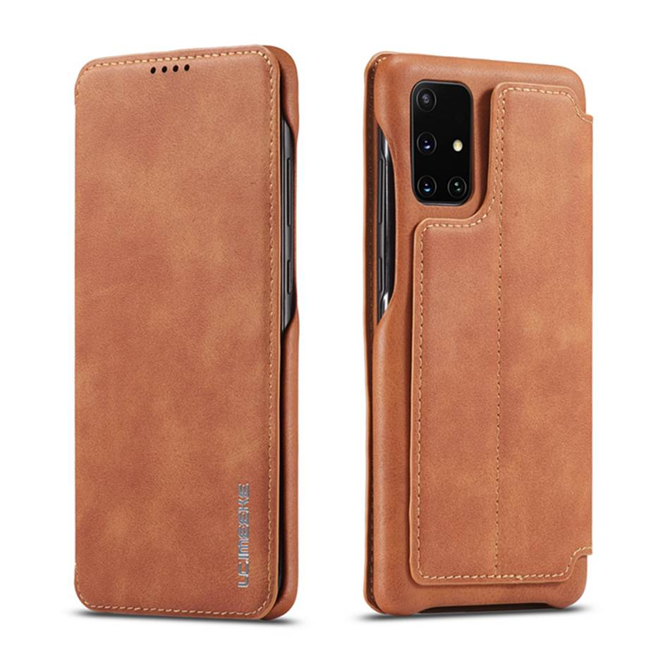 Case For Samsung Galaxy A31 A51 A71 A41 S20 S10 S9 S8 Plus S7 A20 A50 A70 Note9 Leather Magnetic Wallet Business Design Cover