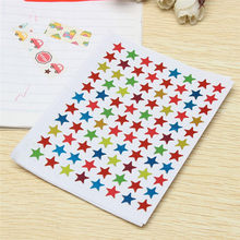 10pcs/bag Childern Gilding Reward Flash Sticker Mother Teacher Praise Label Award Five-pointed Star Stickers(China)