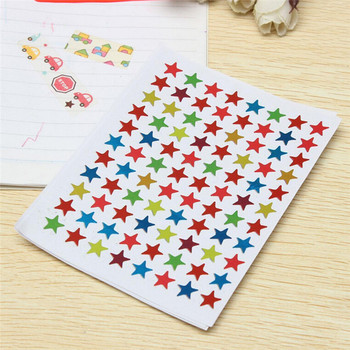 10pcs/bag Childern Gilding Reward Flash Sticker Mother Teacher Praise Label Award Five-pointed Star Stickers image