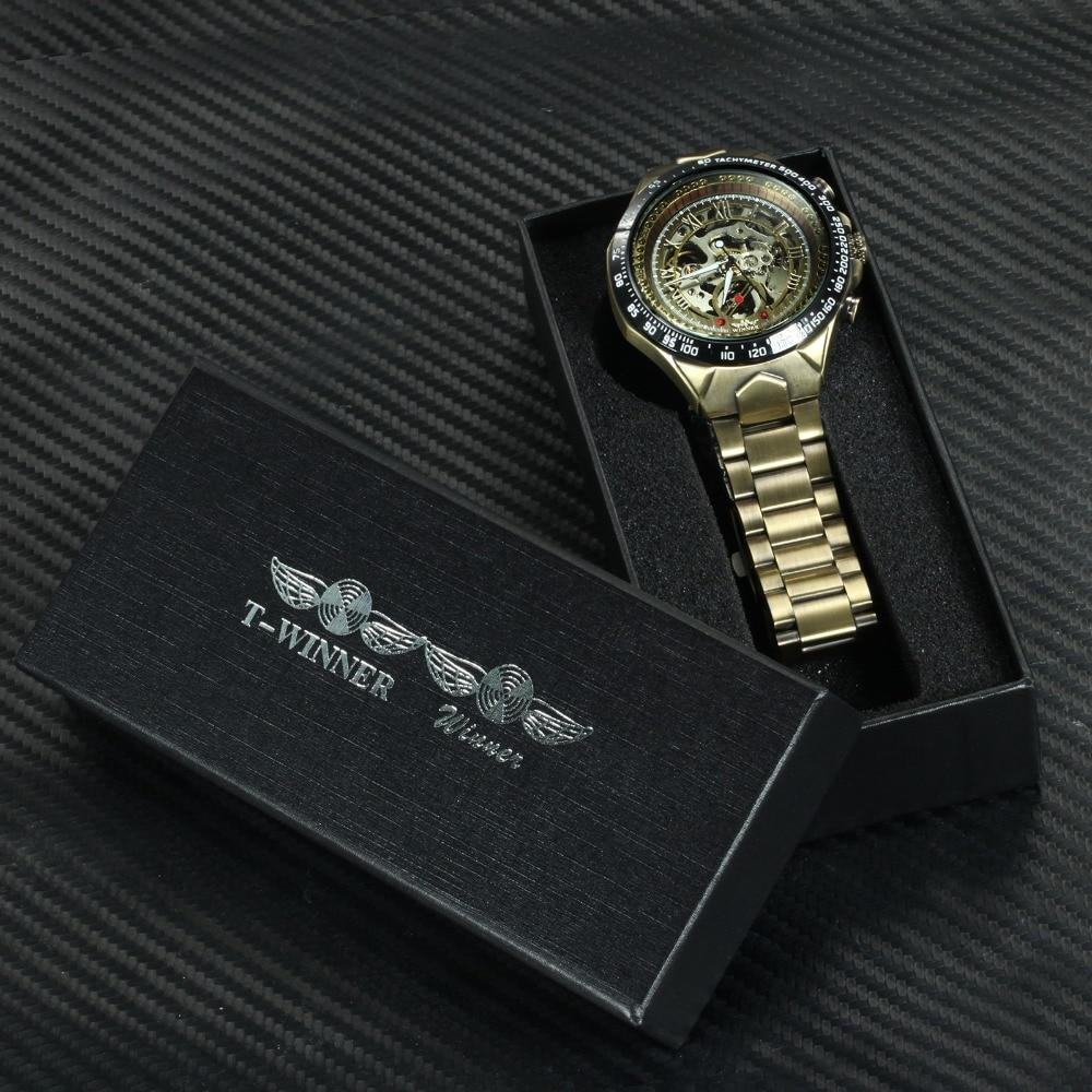 H4ee2a18a918b4a999b0e5c88b080303ca WINNER Official Vintage Fashion Men Mechanical Watches Metal Strap Top Brand Luxury Best Selling Vintage Retro Wristwatches +BOX