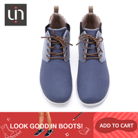 UIN Perth Series Autumn/Winter Boots Women Microfiber Suede Ankle Boots White/Blue Ladies Casual Flat Shoe Outdoor Fashion Boots