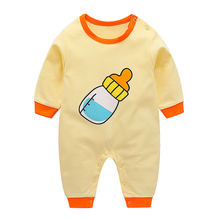 Long-Sleeved Rompers Cartoon Infant Jumpsuit Baby