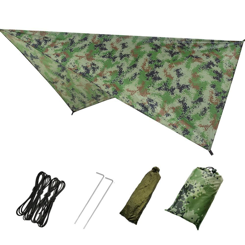 Large Hammock Waterproof Rain Fly Tent Tarp Lightweight Portable Waterproof Ripstop Easily Fold Sun Shelter UV Protection