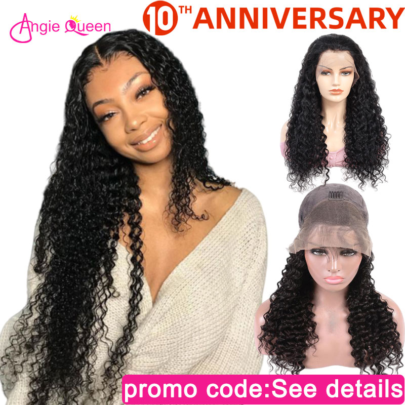 Deep Wave Lace Front Human Hair Wigs Closure Wig Human Wigs 150% Lace Wigs Indian Human Hair Wigs Remy Hair Lace Front Wig