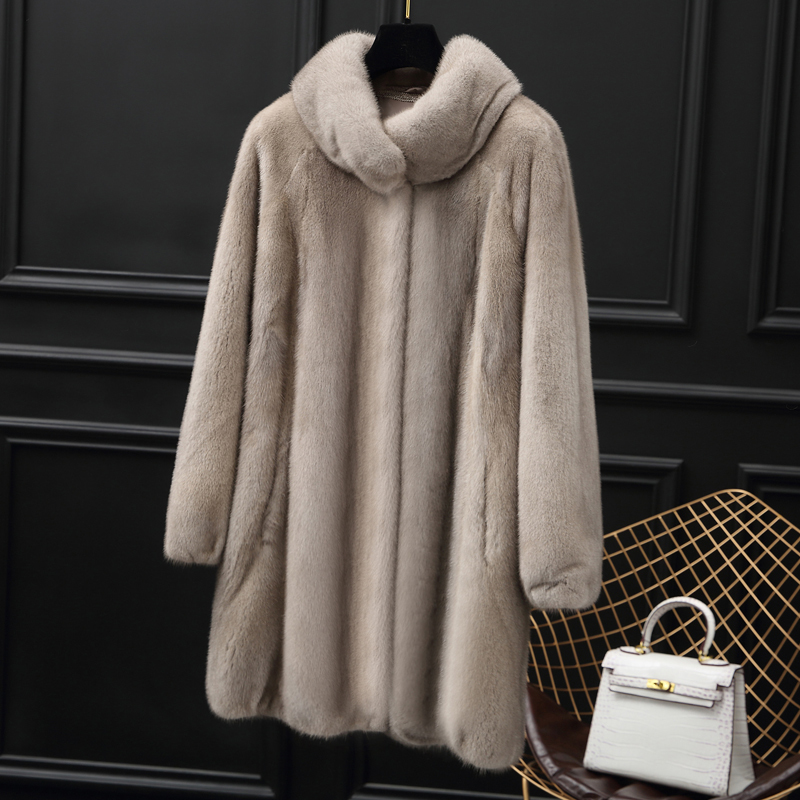 Fur Mink Real Coat Female Luxury Natural Fur Jackets 2020 Winter Jacket Women Warm Long Coats Korean Outwear MY3682 S