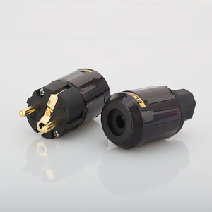 Image 5 - Free Shipping 1Pair P 079E+C079 AC power cable plugs 24k Gold Plated SCHUKO Power Plug
