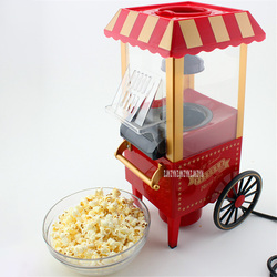 PM2800 Metal Non Toxic PP Vintage Mini Popcorn Machine Household Retro Popper Machine Small Classical Popcorn Maker 220V/110V