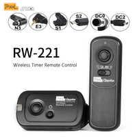 Pixel RW-221 Temporizador de Disparo Do Obturador Controle Remoto Sem Fio (DC0 DC2 N3 E3 S1 S2) cabo Para a Câmera Canon Nikon Sony VS TW283 RC-6