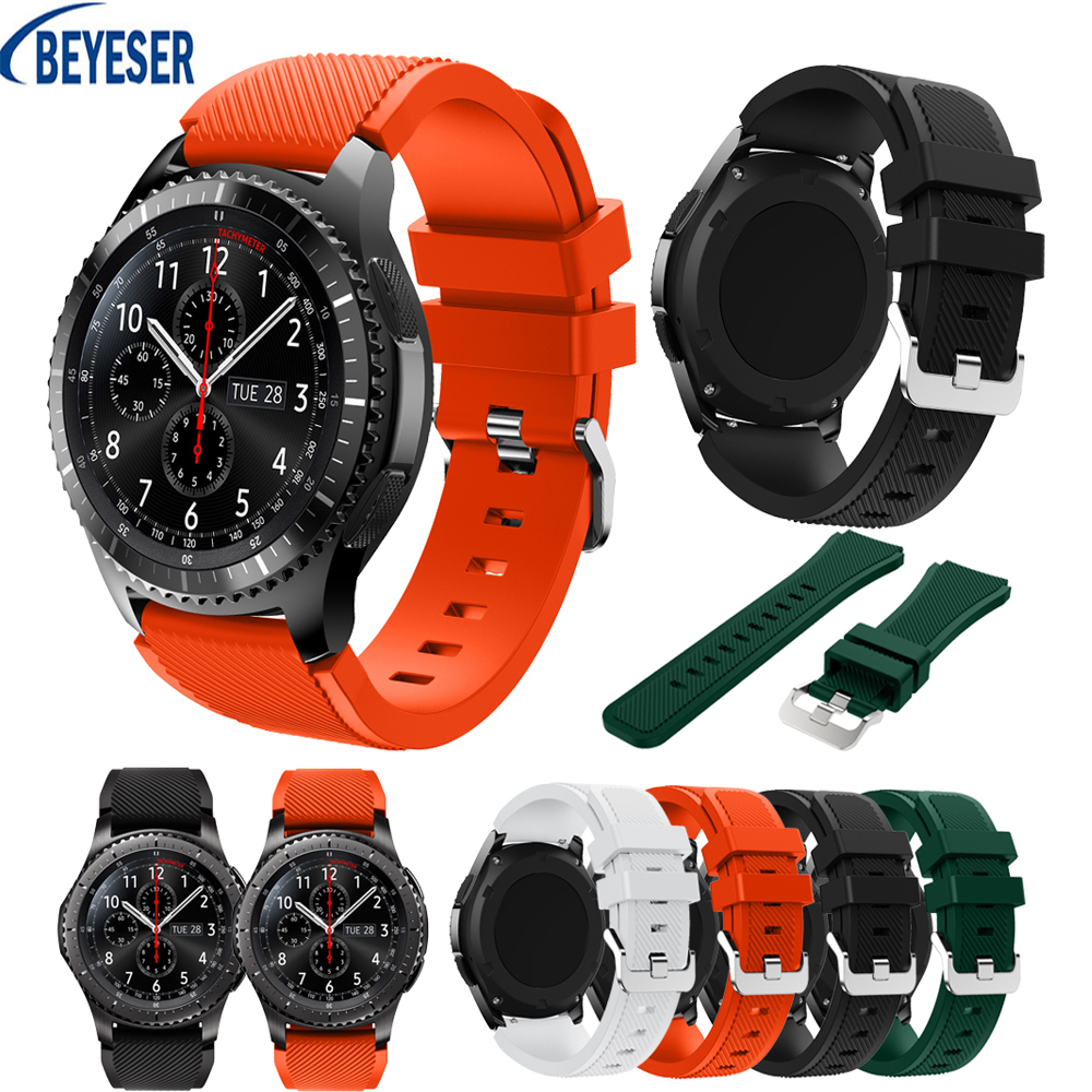 22mm Soft Silicone Watchband For Samsung Gear S3 Frontier Watch Band Strap Replacement Bracelet For Huami 2 Generation 2s