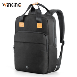 Kingsons Man Backpack Fit 15 inch Laptop USB Recharging Multi-layer Space Travel Male Bag Anti-thief Mochila
