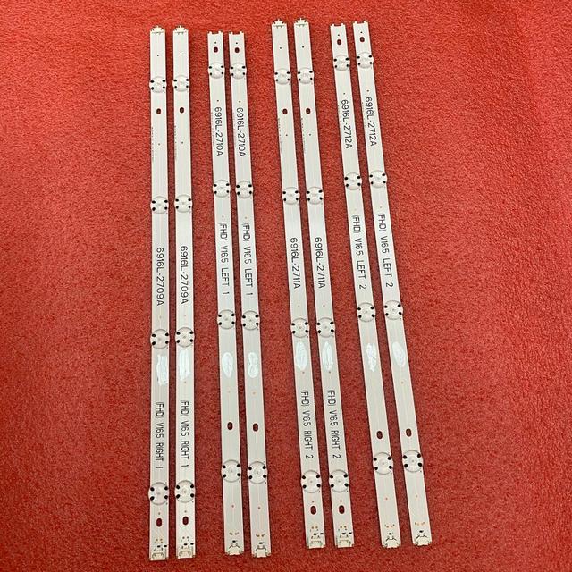 10set = 80 PCS LED streifen für LG 49LH570V 49LF5100 49LJ5100 49LH590V 49LH570V 6916L 2709A 2710A 2711A 2712A 2705A 2706A 2707A 2708A