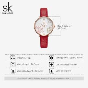 Image 5 - Shengke 2019 ผู้หญิงนาฬิกาสบายๆควอตซ์นาฬิกาสายหนังกันน้ำนาฬิกาข้อมือของขวัญ Zegarek Damski