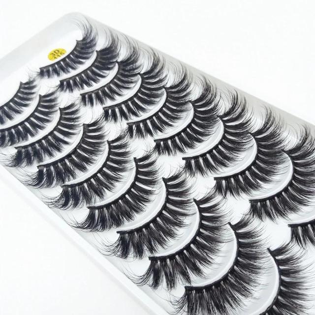 New 5/10 pairs of 3D imitation mink eyelashes natural long false eyelashes makeup lashes eyelash extension maquiagem faux cils 1