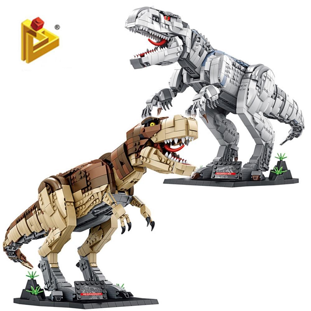Фигурки Динозавров Юрского периода, кирпичи, тираннозавр «сделай сам», строительные блоки, игрушка, динозавр, рождественский подарок для вз...