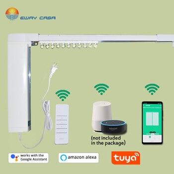 EWAY CASA Alexa&Google Home Tuya Motorized WiFi Curtain Track  Automatic Electric Curtain Track Smart Home CM_DSTUYA_TRACK1.2N