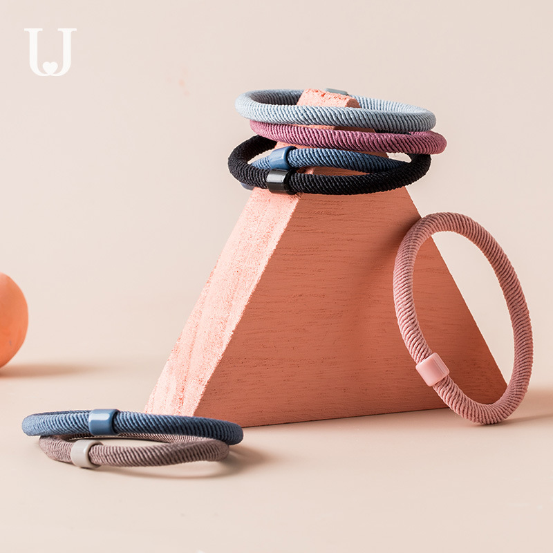 12pcs/set Xiaomi Jordan&Judy Hair Ring Cute Head Rope Tie Hair Rubber Band Hairpin Simple Hair Rope  Hair Accessories