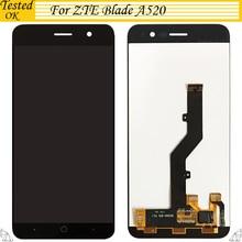 ЖК-дисплей для ZTE Blade A520, дигитайзер сенсорного экрана, стеклянная панель в сборе для ZTE A520, ЖК-экран для ZTE A 520