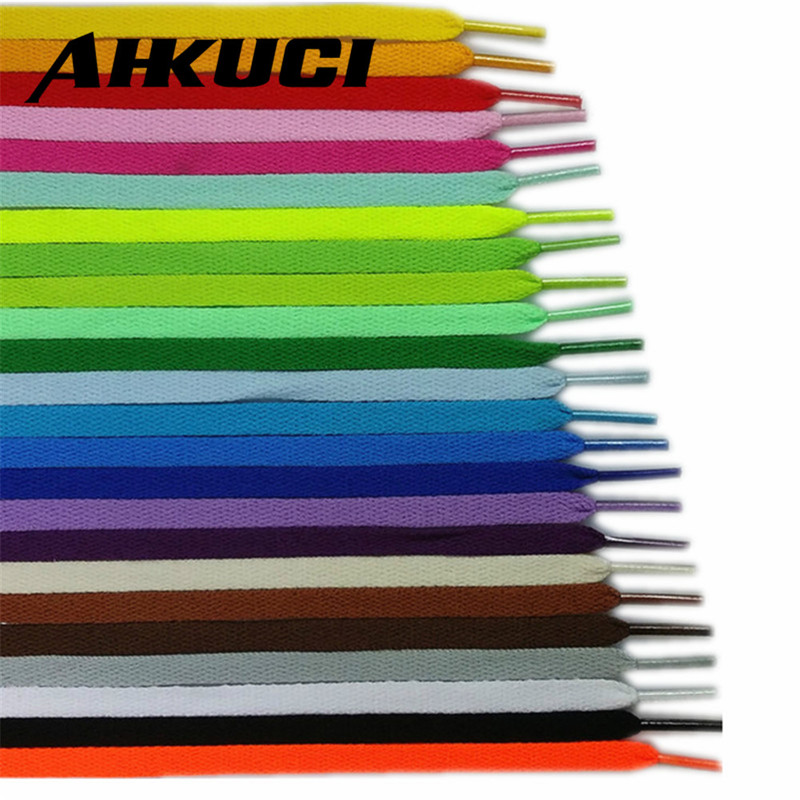 100pairs Shoelace Athletic Sport Sneakers Flat Shoelaces Trainer Runner Shoe Strings Multi Color 70 80 90 110 120 130cm image