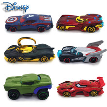 Disney Avengers set car 6 toys children scooter 7-8cm 1:64 pocket car super cool movie car spiderman chariot iron man chariot