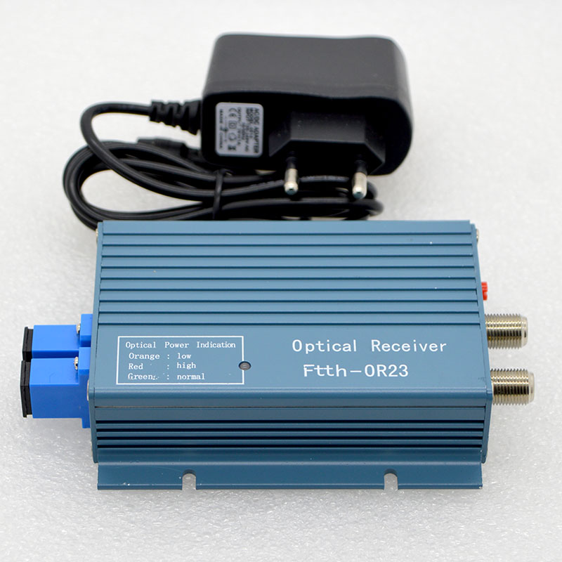 FTTH CATV High Level Optical Receiver With WDM Fiber Optical Converter SC/UPC Duplex Connector Mini Mode With 2 Output RF Inch