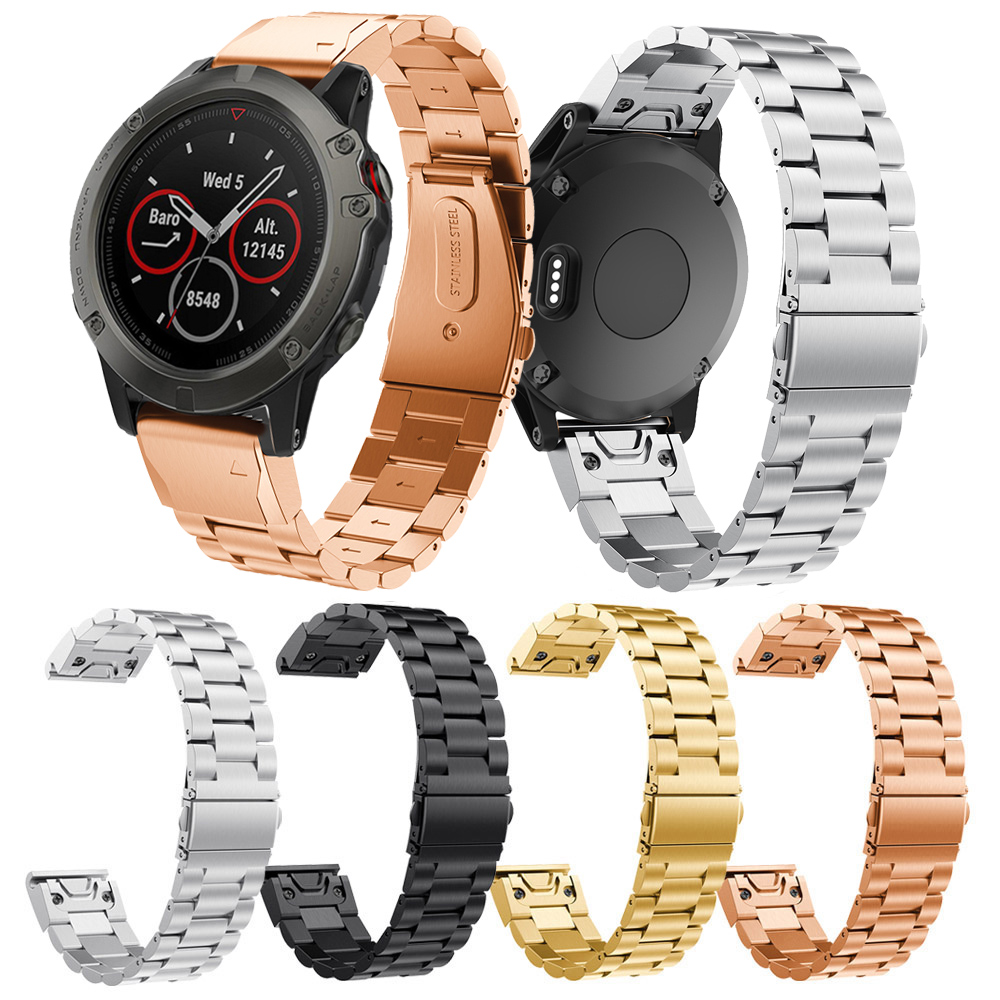 20mm Metal Stainless Steel Metal Strap for Garmin Fenix 5s 5s plus Band Easy fit watchband wrist band Strap Belt Correa Venda in Smart Accessories from Consumer Electronics