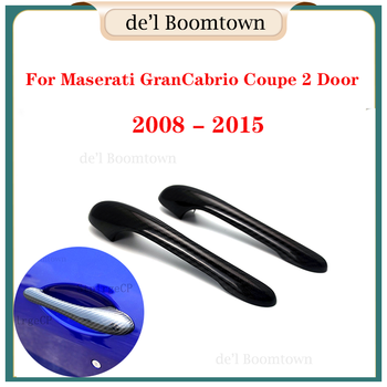 New For Maserati GranCabrio Coupe 2 Door 2008 - 2015 Door Handle Cover accessories 100% real carbon fiber Car Handle Cover image