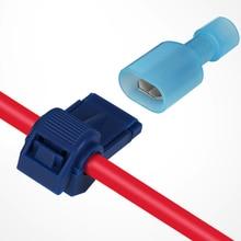 Terminals Crimp Connectors Electrical-Wire Lock-Cable Splice Quick Snap T-Type